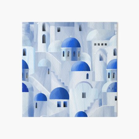 Santorini island in the Greece Art Board Print