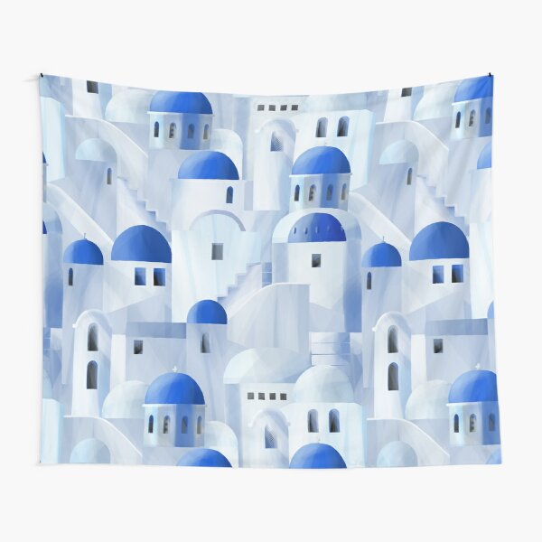 Santorini island in the Greece Tapestry