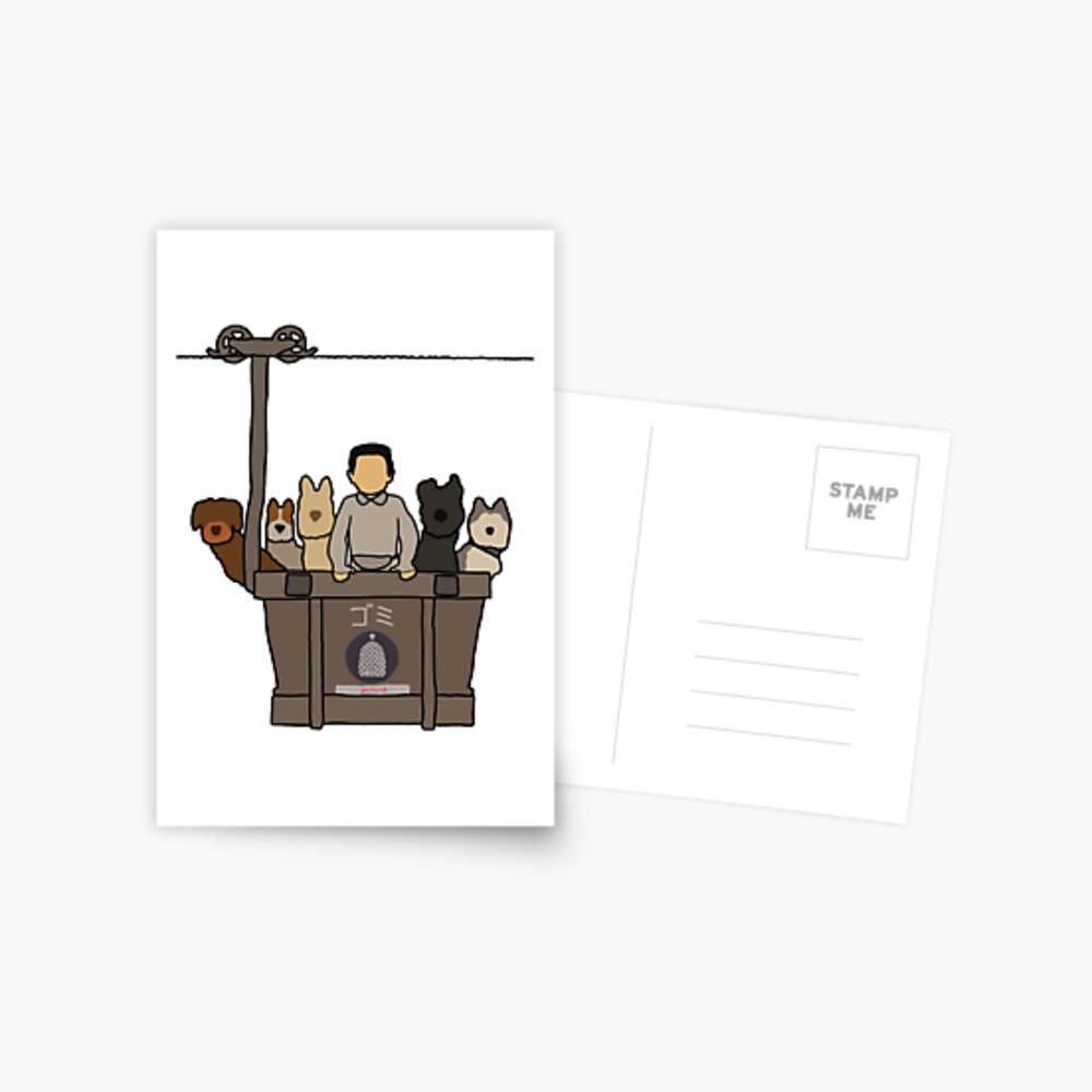 Insel der Hunde Postkarte