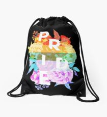 Floral Pride Drawstring Bag