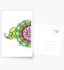 Mandala floral multicolor  Postcards