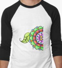 Mandala floral multicolor  Baseball ¾ Sleeve T-Shirt