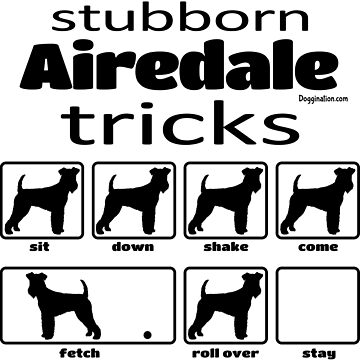 Stubborn Airedale Tricks by doggination