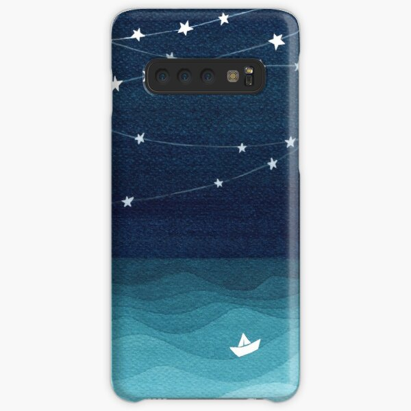 Garland of stars, teal ocean Samsung Galaxy Snap Case