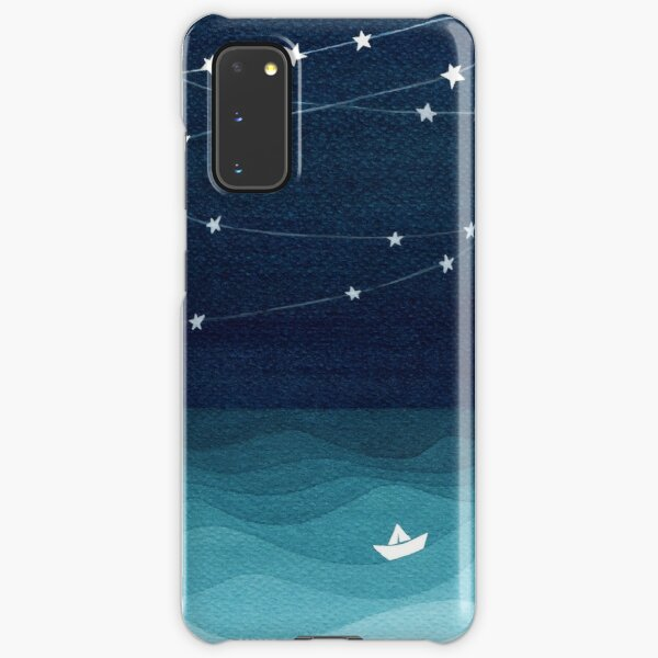 Garland of stars, teal ocean Samsung Galaxy Snap Case