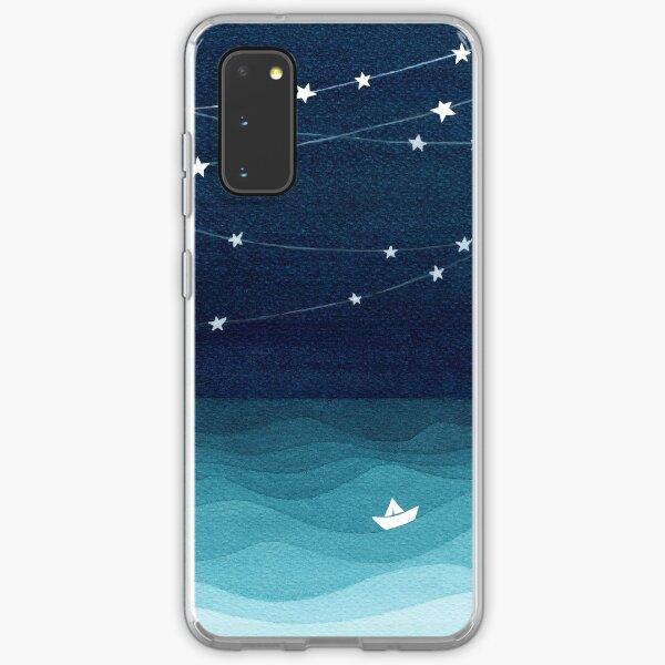 Garland of stars, teal ocean Samsung Galaxy Soft Case