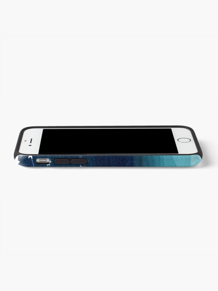 Alternate view of Garland of stars, teal ocean iPhone Case & Cover