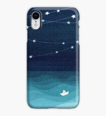 Garland of stars, teal ocean iPhone XR Case
