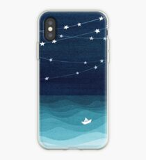Garland of stars, teal ocean iPhone Case