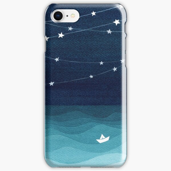 Garland of stars, teal ocean iPhone Snap Case
