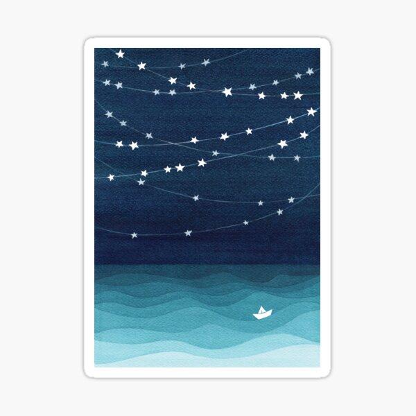 Garland of stars, teal ocean Sticker