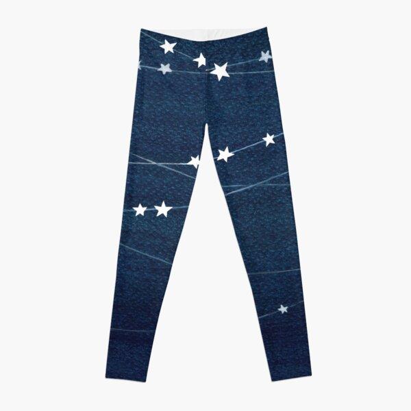 Garland of stars, teal ocean Leggings