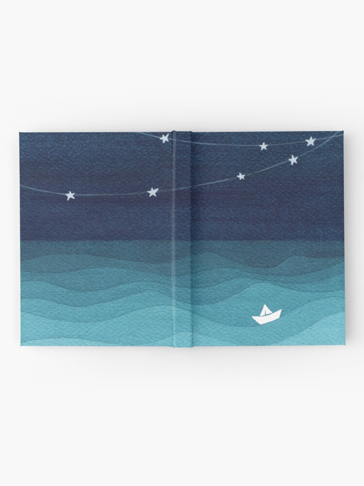Alternate view of Garland of stars, teal ocean Hardcover Journal