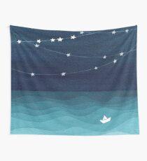 Garland von Sternen, aquamariner Ozean Wandbehang