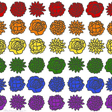 LGBT Flower Flag by SpectacledPeach