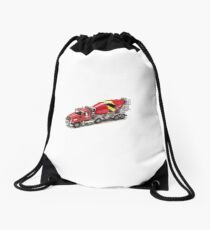 Mixer Truck Drawstring Bag