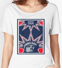 New York City Statue of Liberty USA Women's Relaxed Fit T-Shirt
