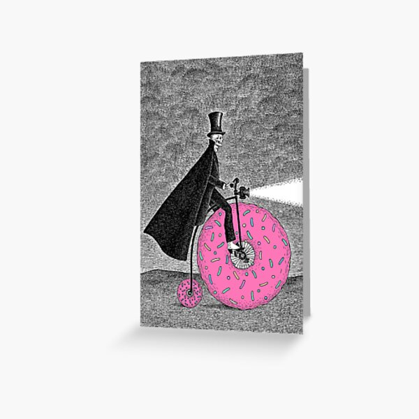 Donut Bicycle Greeting Card