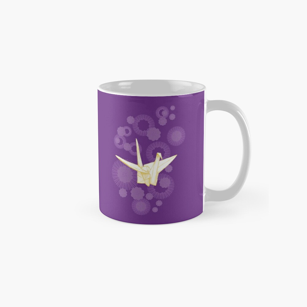 Paper Crane and Cherry Blossoms Mugs