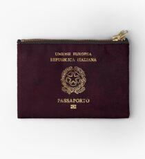 Italian Passport Vintage Zipper Pouch