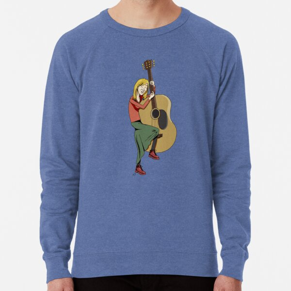 Hippie Guitar Busker Lightweight Sweatshirt