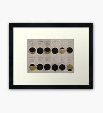 Gold Eclipse  Framed Print