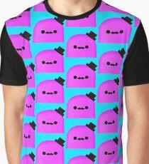 Purple Kawaii Mustache Figure  Graphic T-Shirt