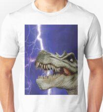 DINOSAUR LIGHTNING Pop Art Unisex T-Shirt