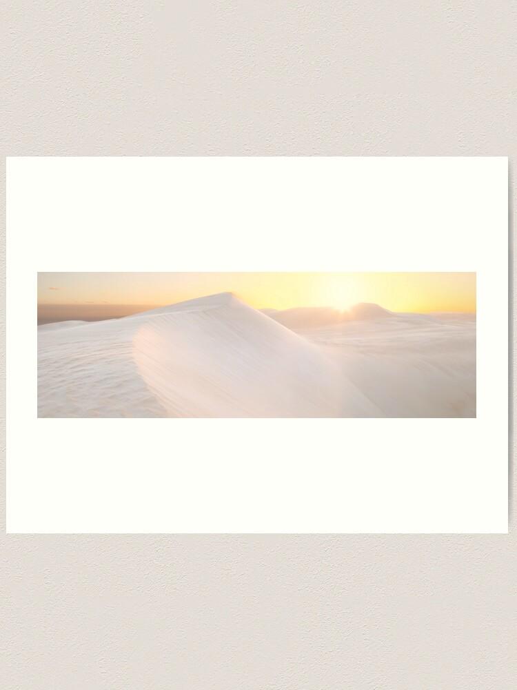 Alternate view of Gunyah Beach Sand Dunes, Coffin Bay, South Australia Art Print