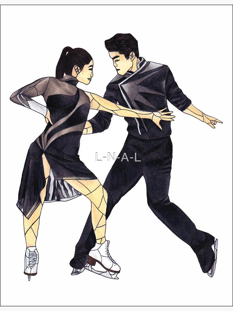 Maia und Alex Shibutani (Glasmalerei) von L-N-A-L