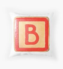Alphabet block B Throw Pillow