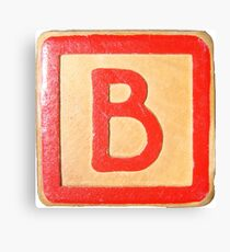 Alphabet block B Canvas Print