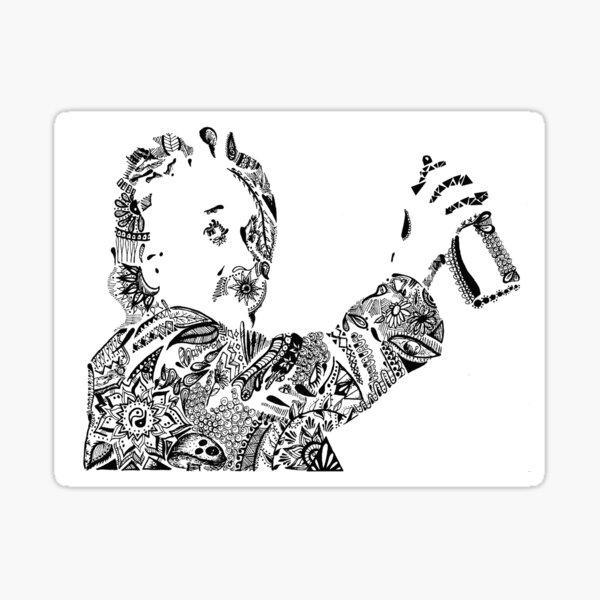 Einstein Maori Sticker