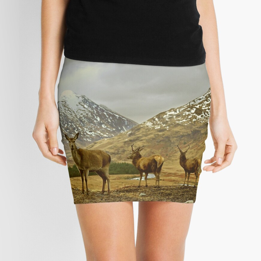 Deer Mini Skirt