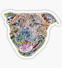 Staffordshire Bull Terrier Face Sticker