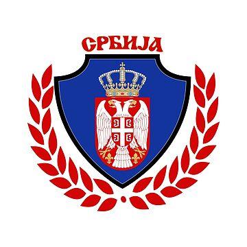 Serbia - Srbija - Football - Soccer by Urban-Zone