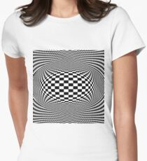 Optical Illusion, Visual Illusion,  Cognitive Illusions #OpticalIllusion, #VisualIllusion,  #CognitiveIllusions, #Optical, #Visual, #Cognitive, #Illusions Women's Fitted T-Shirt