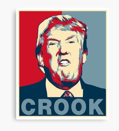 Trump Crook Poster Canvas Print
