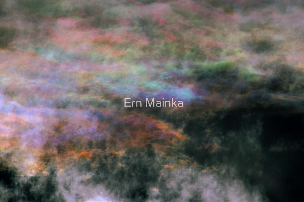 Iridescent Cirrocumulus Cloud near Melbourne, Victoria. by Ern Mainka