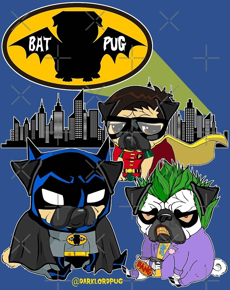 Bat Pug by darklordpug