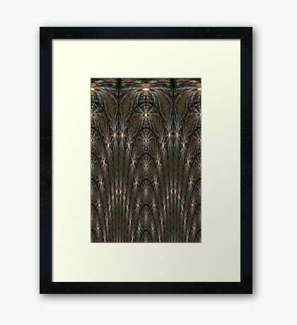 Abstract water droplets in rainbow colours 2 Framed Print
