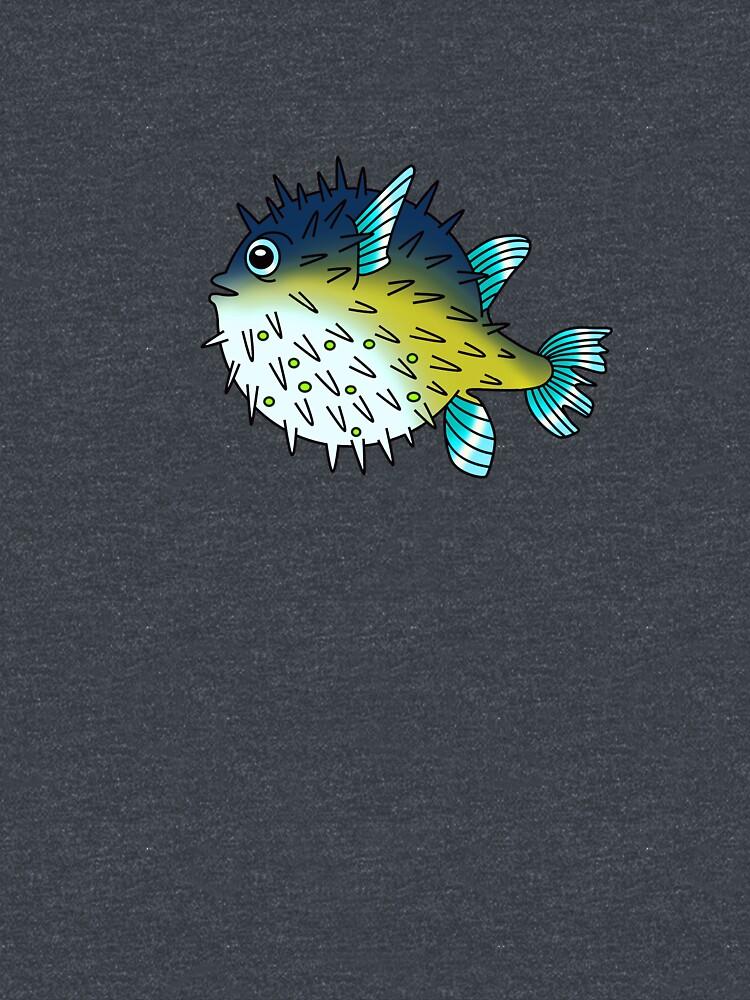 Deep Blue Sea Pufferfish by Vintage101