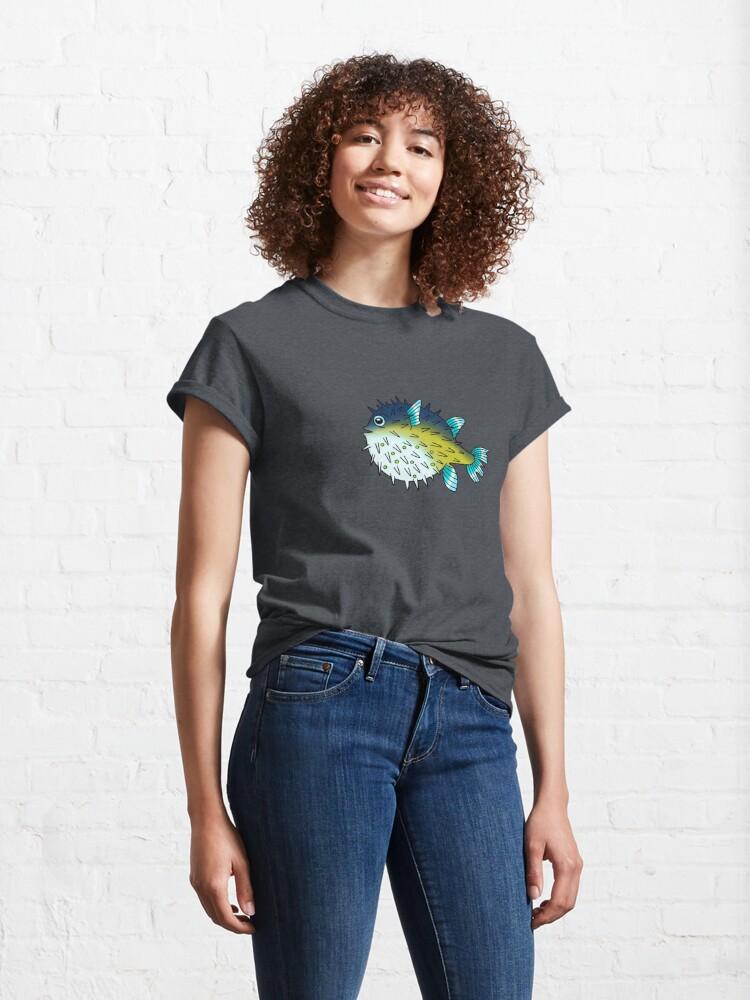 Alternate view of Deep Blue Sea Pufferfish Classic T-Shirt
