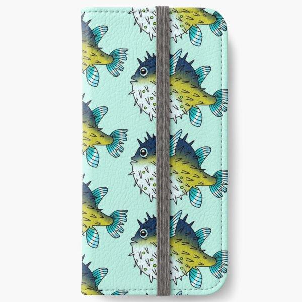 Deep Blue Sea Pufferfish iPhone Wallet