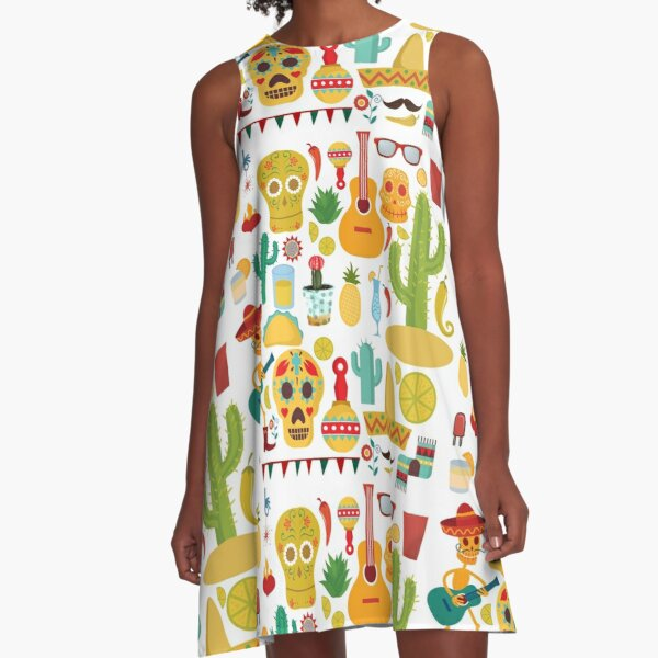 Fiesta Pattern A-Line Dress