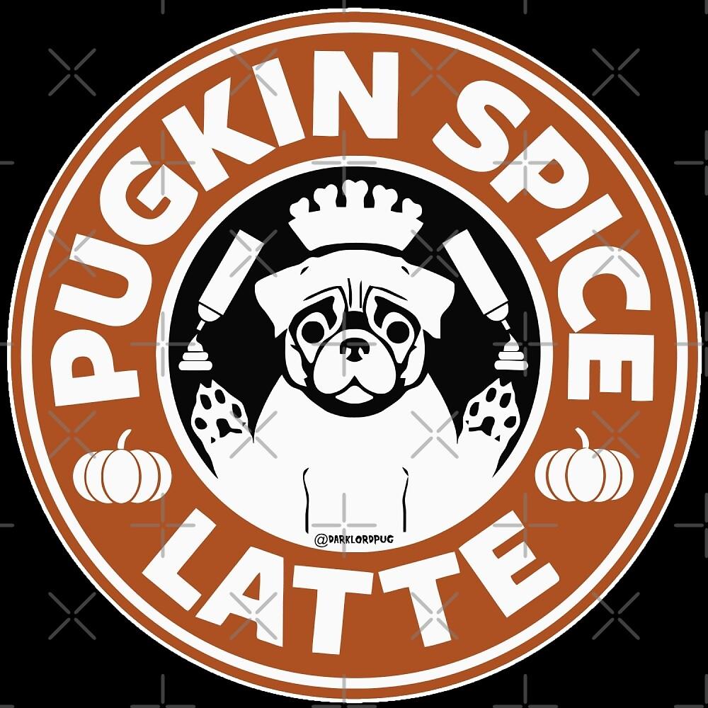 PUGKIN SPICE LATTE by darklordpug