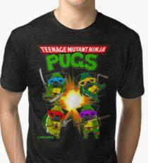 Teenage Mutant Ninja Möpse Vintage T-Shirt