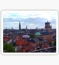 """Heavenly Copenhagen"", Photo / Digital Painting Sticker"