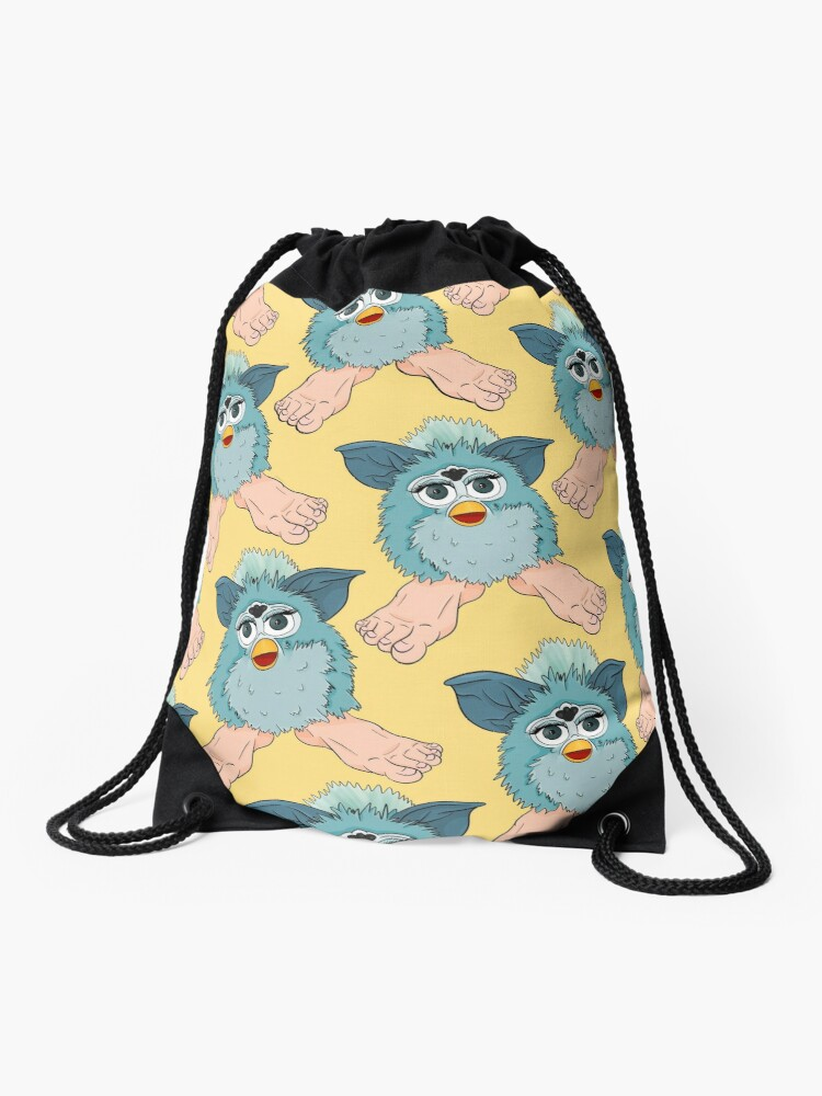 Yellow furby pattern | Drawstring Bag