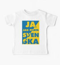 Ja, Jag Prata Svenska, Yes i speak Swedish, with Sweden flag colors Baby Tee